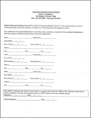 New Patient Forms - Crossroads Health Center - Victoria Texas