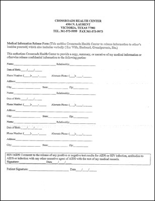 New Patient Forms - Crossroads Health Center - Victoria Texas