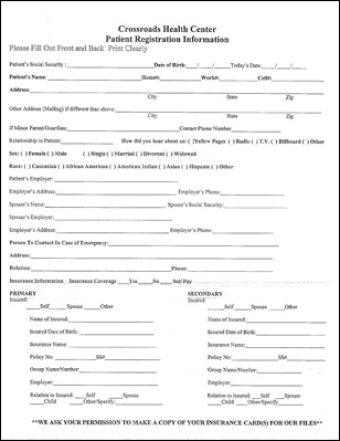 New Patient Forms  Crossroads Health Center  Victoria Texas